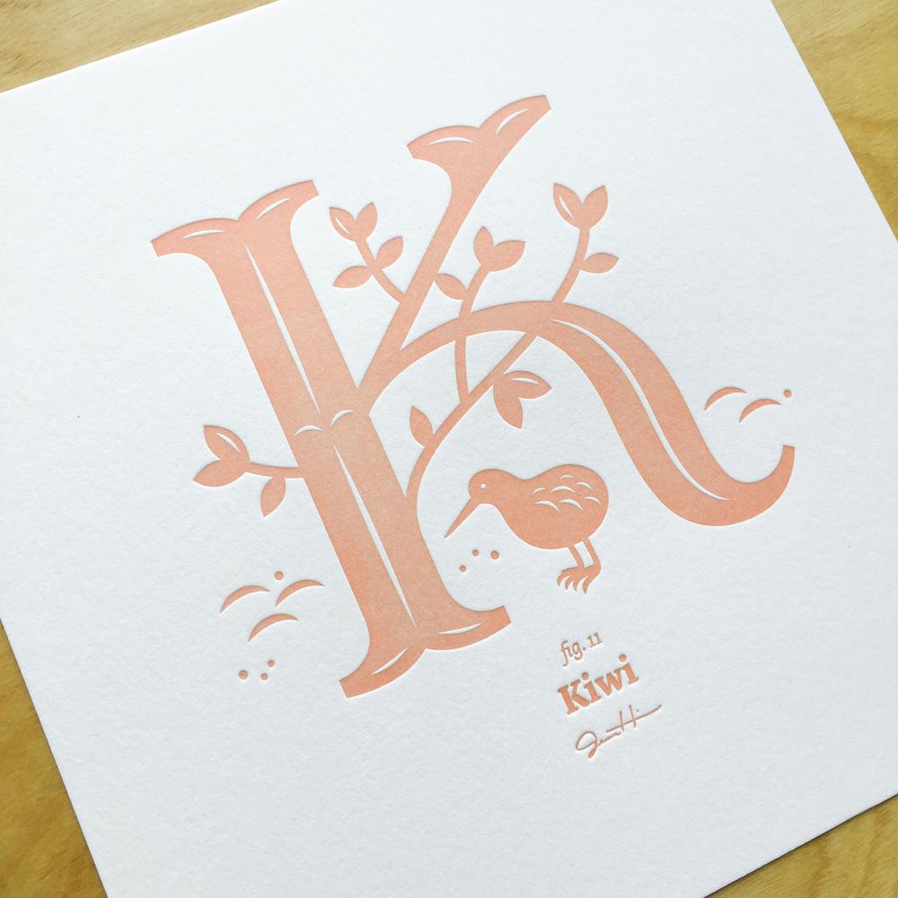 Letterpress Alphabirds | Jessica Hische