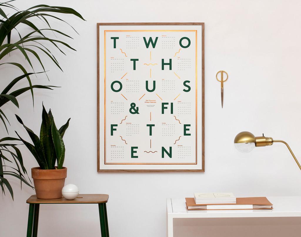 Kristina Krogh Prints | Calendar with copper foil