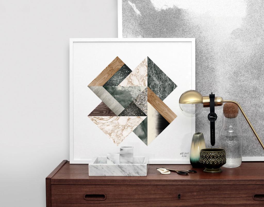 Kristina Krogh Artwork Prints |Green Galaxy Collage