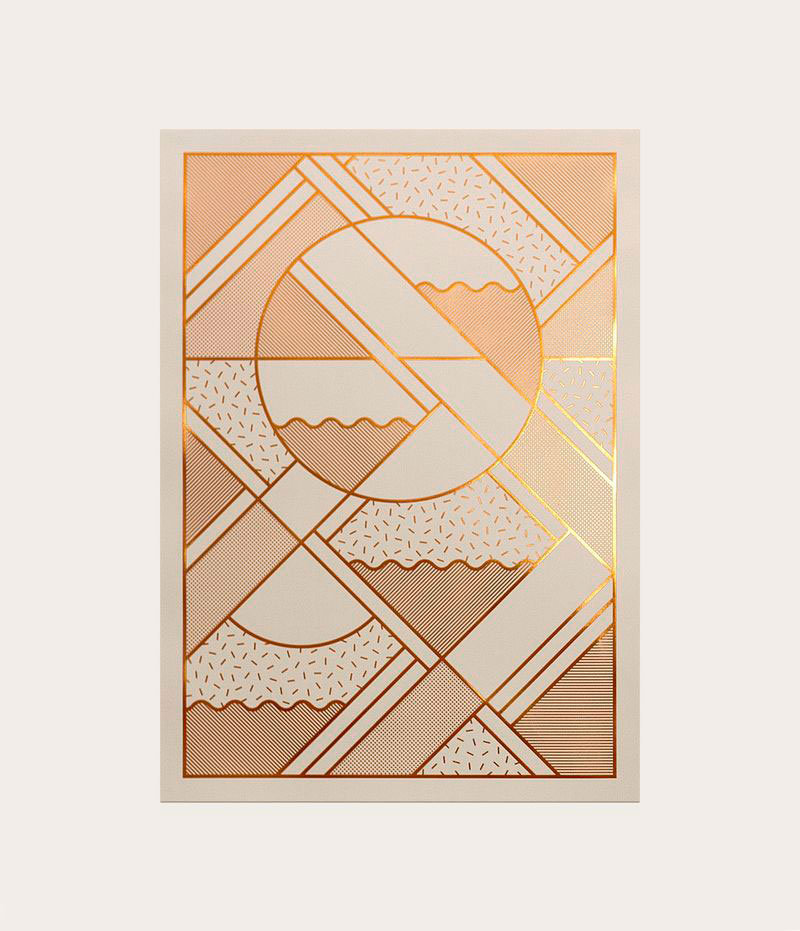 Kristina Krogh Artwork Prints | Levels in beige + copper