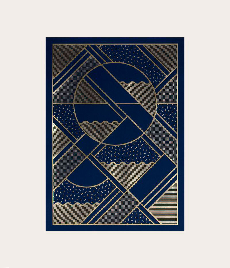 Kristina Krogh Artwork Prints | Levels in blue + gold