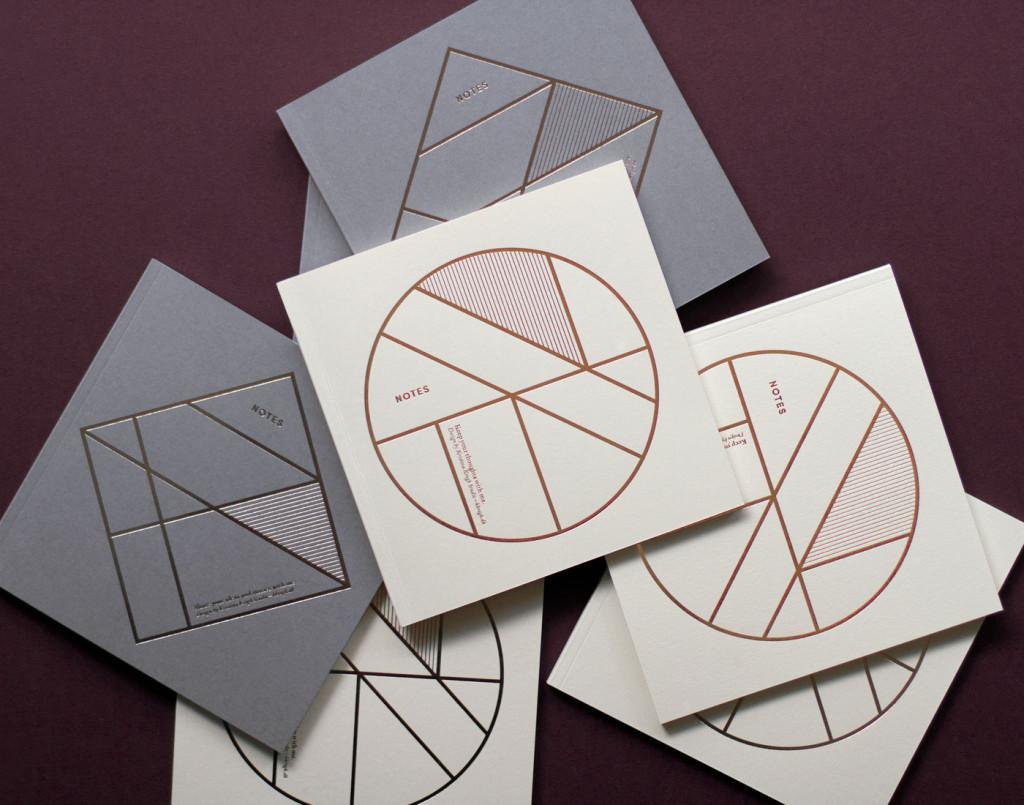 Kristina Krogh Paper Goods | Notebook with gold foil