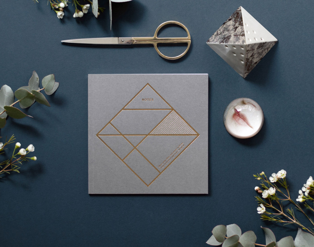 Kristina Krogh Paper Goods | Notebook with gold foil