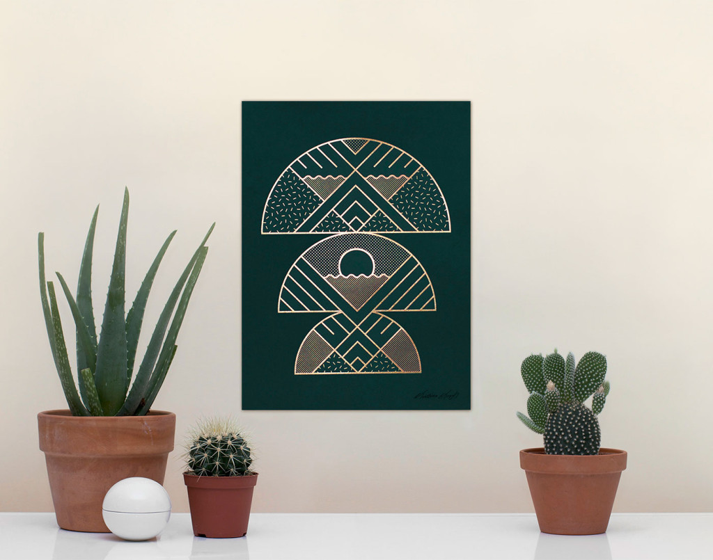 Kristina Krogh Artwork Prints | Seasons ofr Stilleben in green + gold
