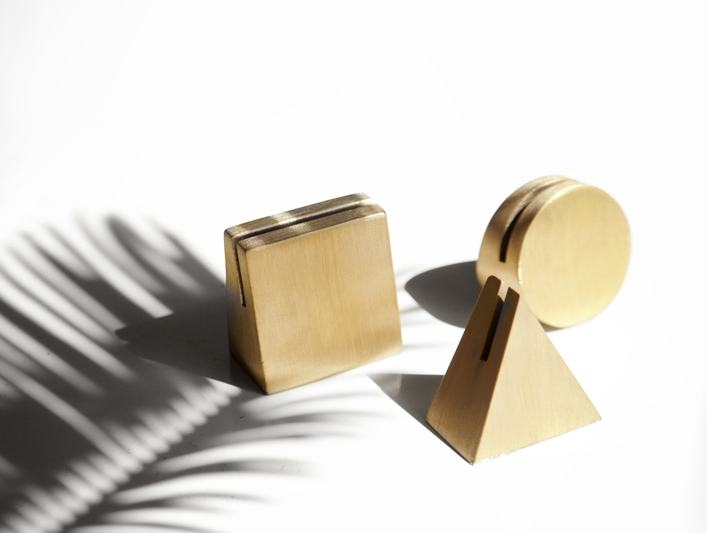 Brass Geo Stands | Yield Design