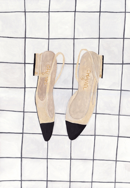 Sainte Maria | chanel shoes illustration