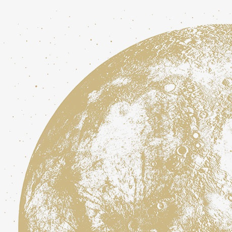Moon Phase Wall Calendars 2016 in Gold Metallic by A Little Lark