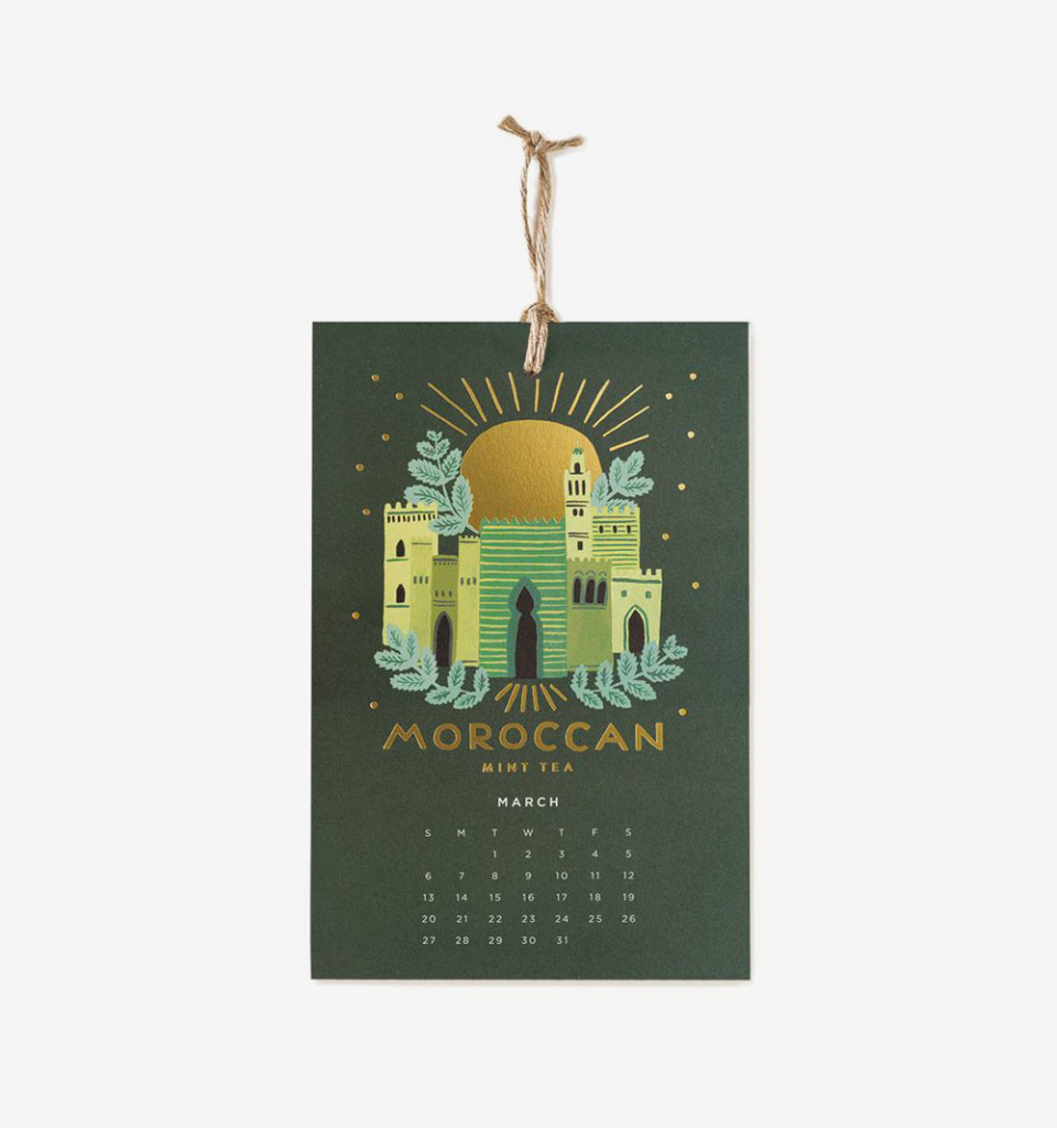 2016 Coffee & Tea Wall Calendar by Rifle Paper Co.