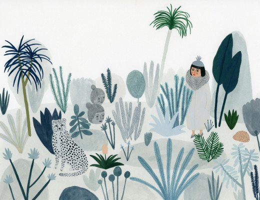 Kate Pugsley Illustrations | Thicket, gouache on paper