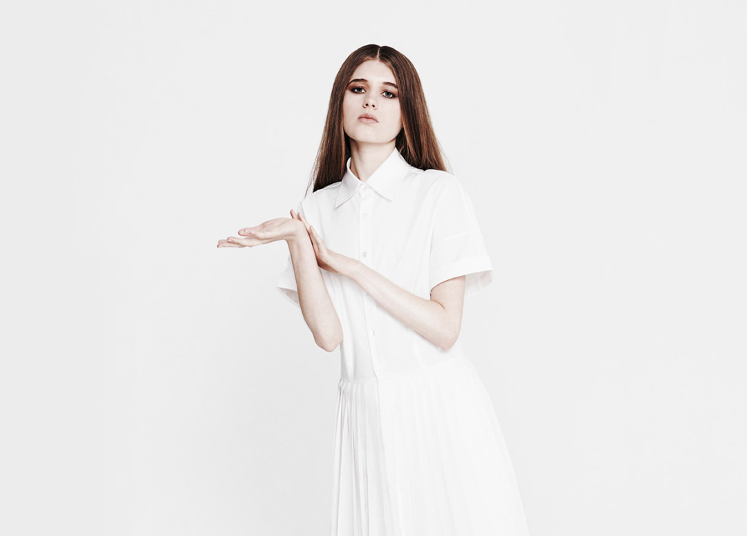 Youjia Jin |Modern white shirt dress