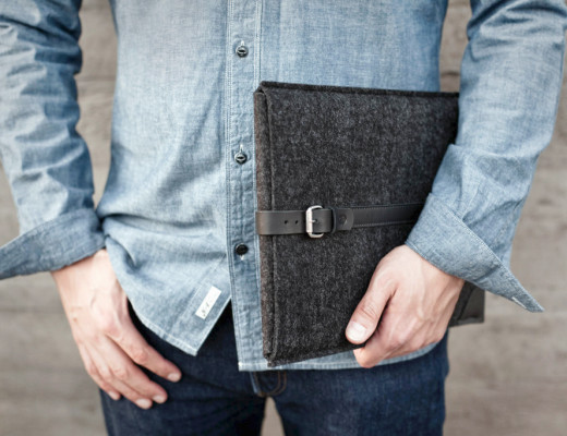 MacBook felt sleeve with leather belt | Cocones