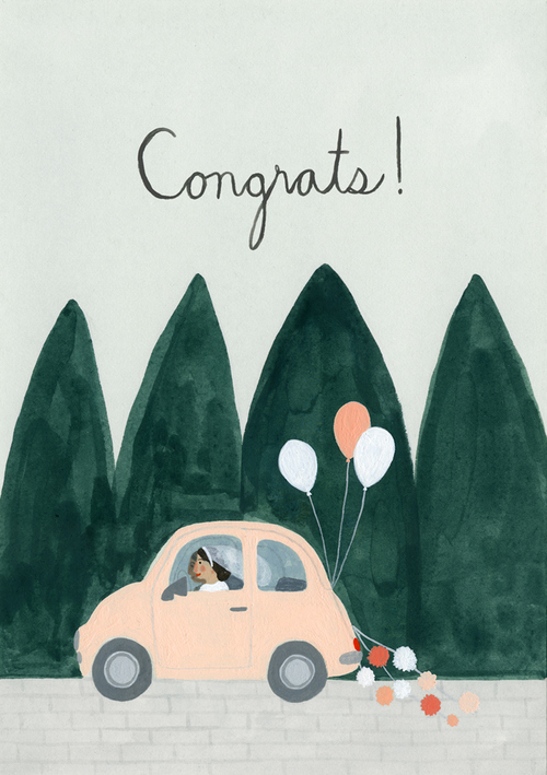Kate Pugsley Illustrations | Wedding congrats card