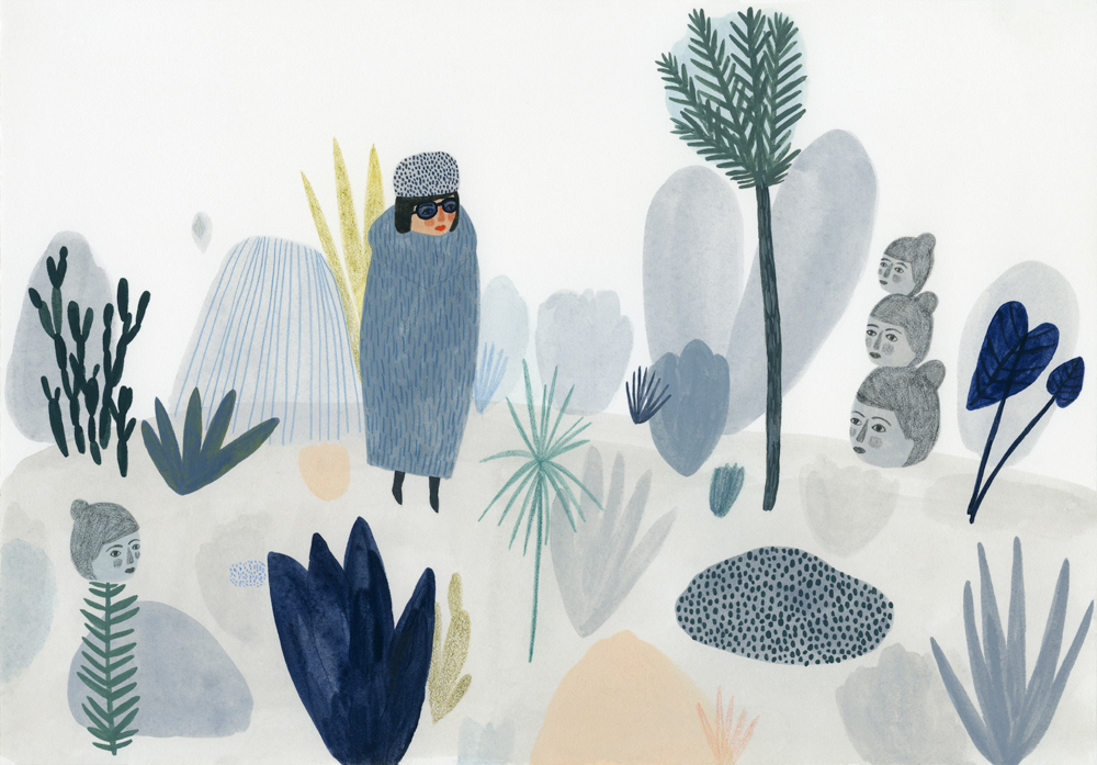 Kate Pugsley Illustrations | Forest, gouache on paper