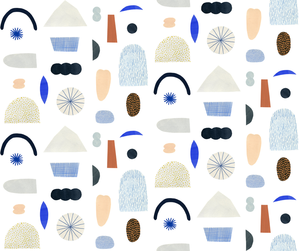 Kate Pugsley Illustrations | paper collage pattern