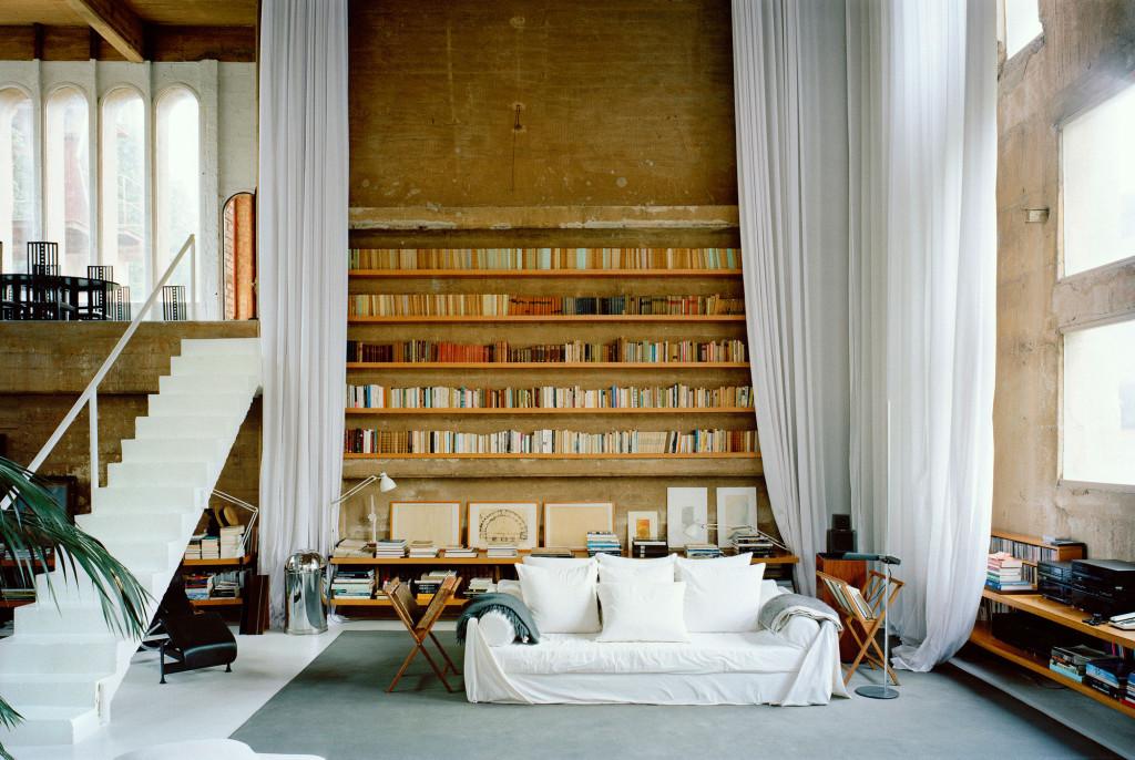 Ricardo Bofill | La Fabrica, Spain | Living Room in a former industrial complex