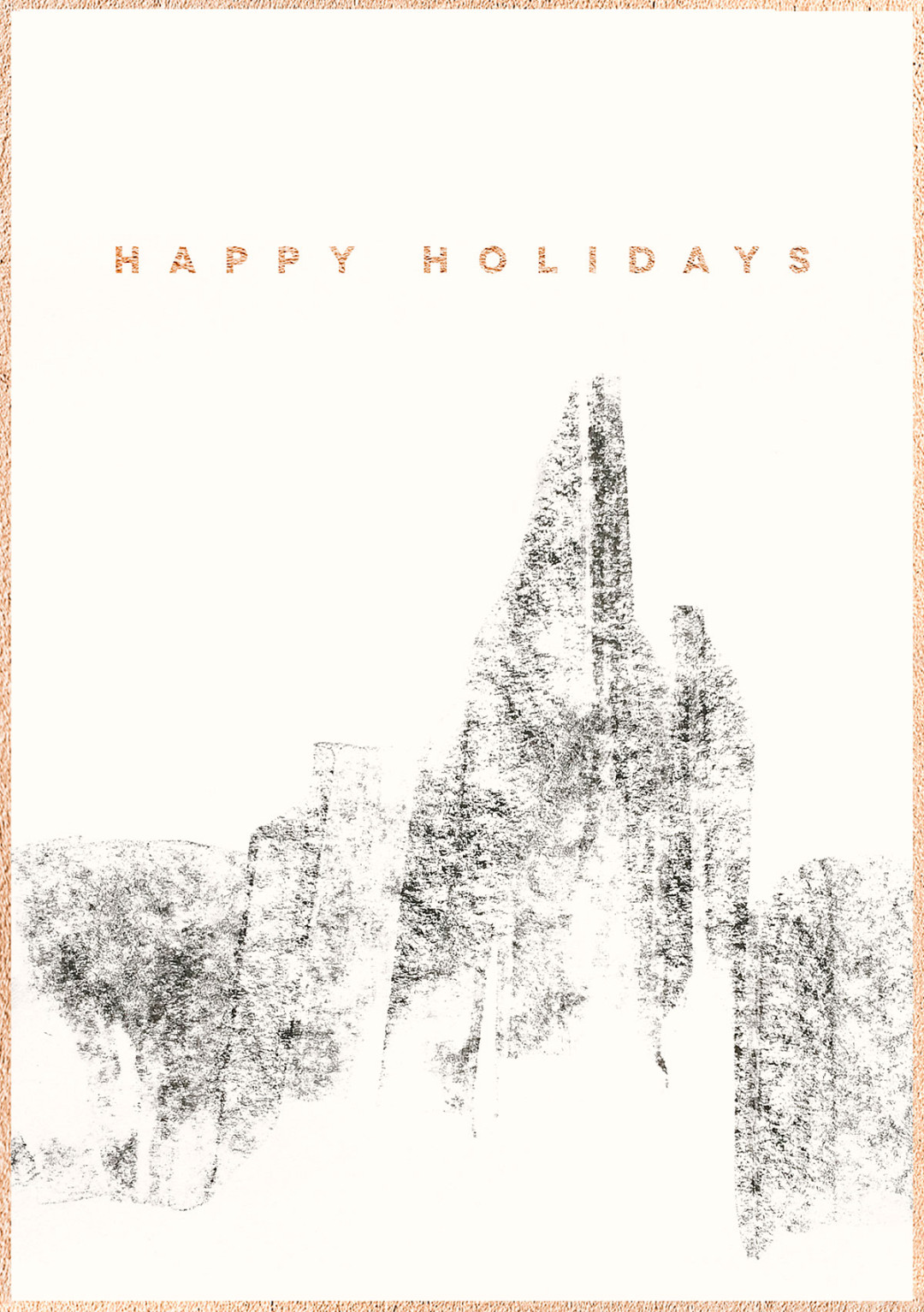 Happy Holidays by Sarah Le Donne | Mountain Illustration