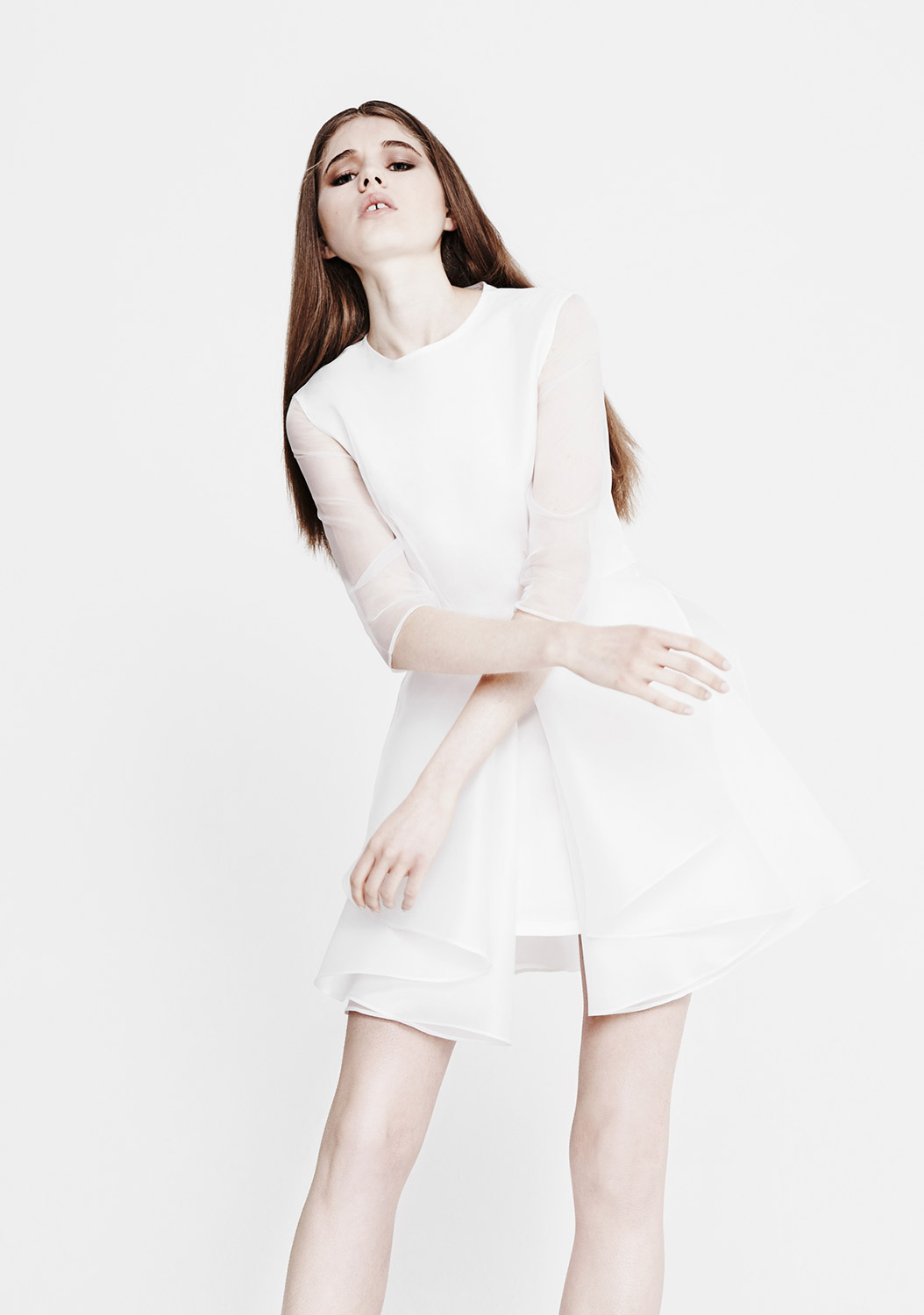 Youjia Jin | Modern white shirt dress
