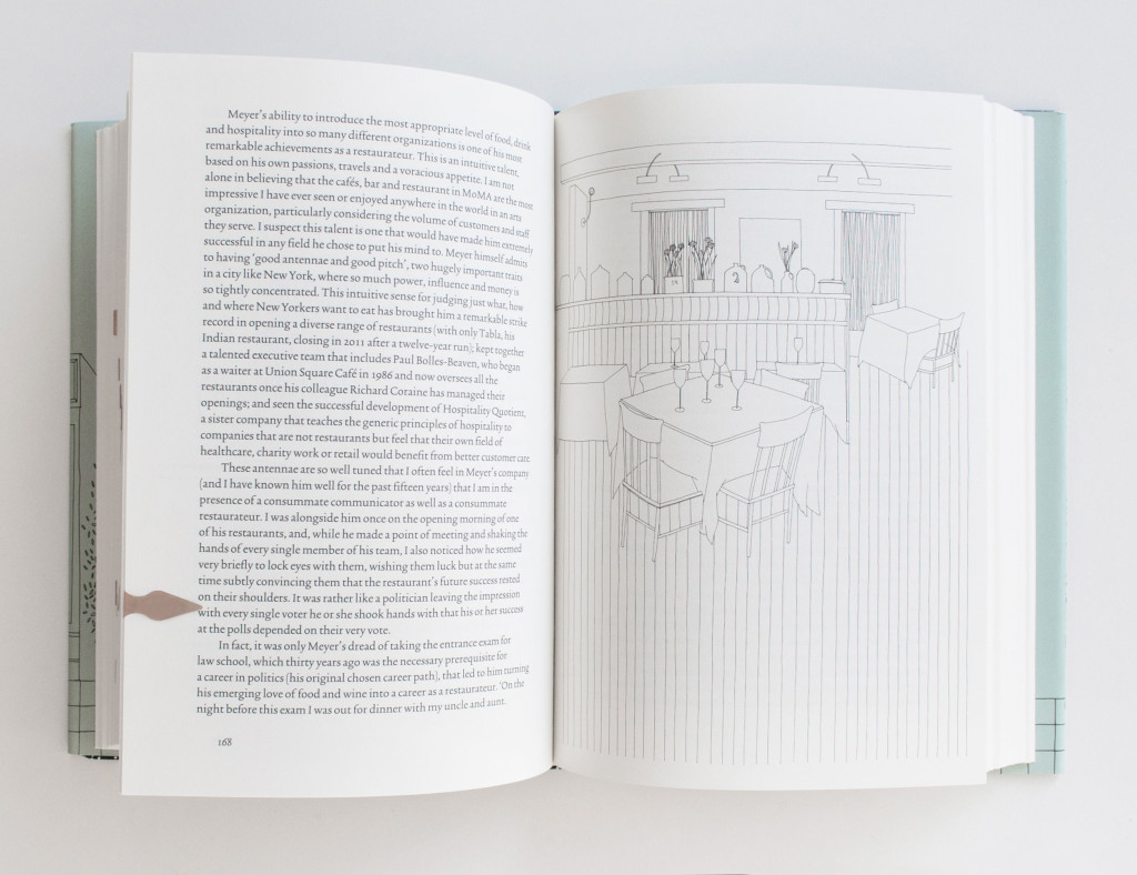 The Art of the Restaurateur by Nicholas Lander | Book design with line illustrations