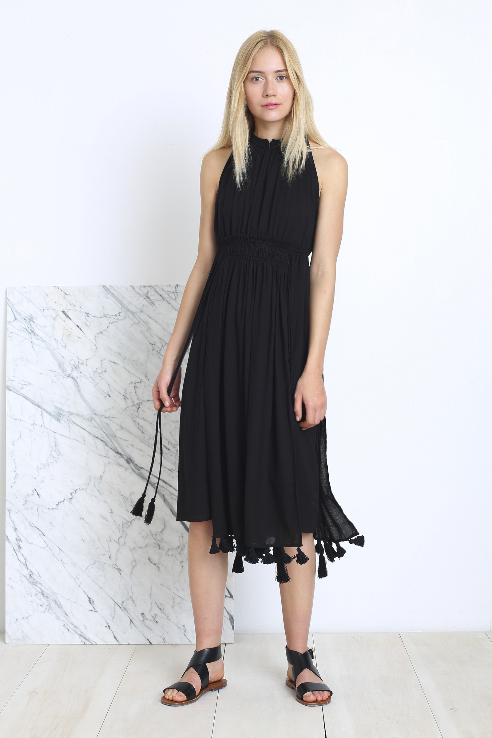 Apiece Apart | summer dress with tassels