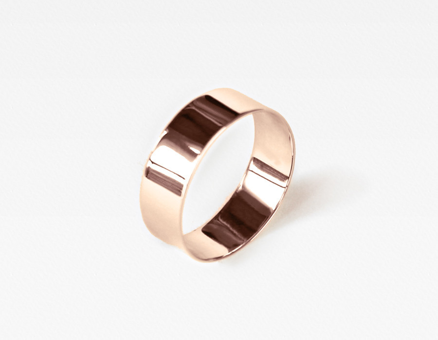 Vrai & Oro | Fine Jewelry Essentials without the Markups | Thick Rose Gold Ring