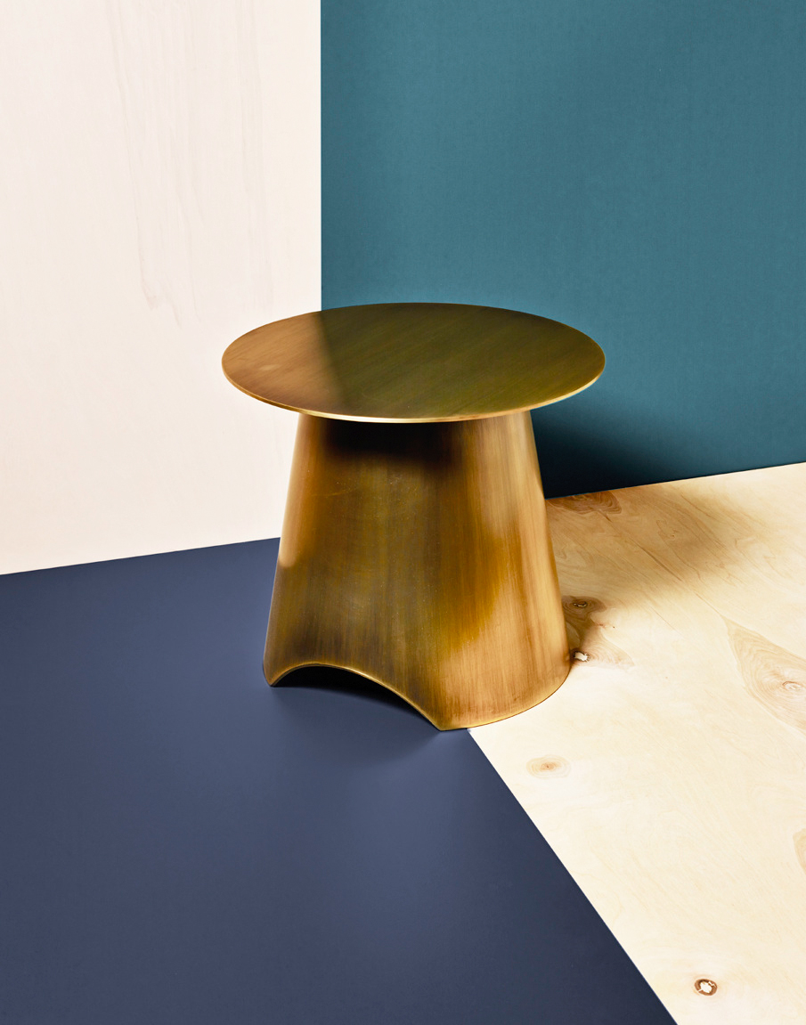 Christoph Delcourt for AvenueRoad | Gold Side Table