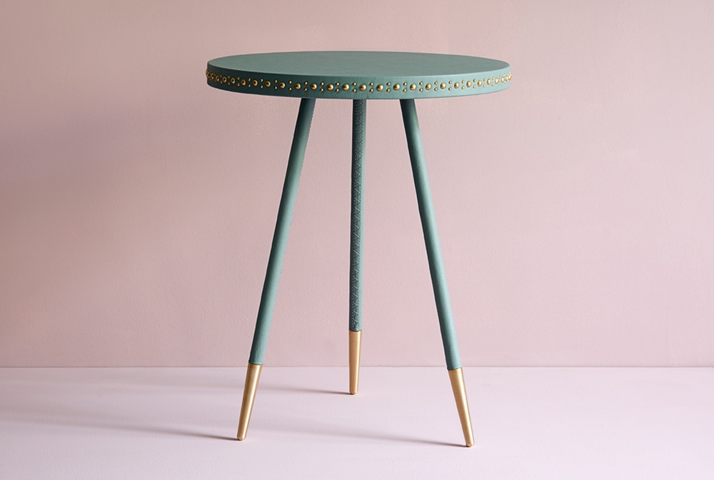 Bethan Gray Stud Side Table In Jade