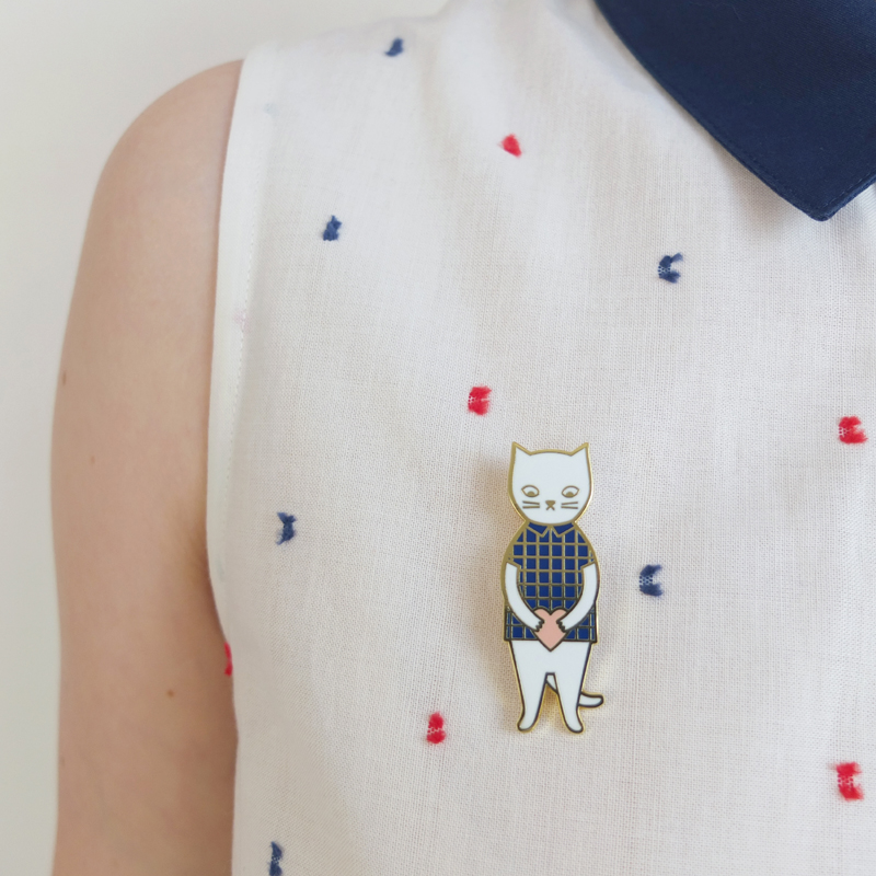 Audrey Jeanne | Cat pin