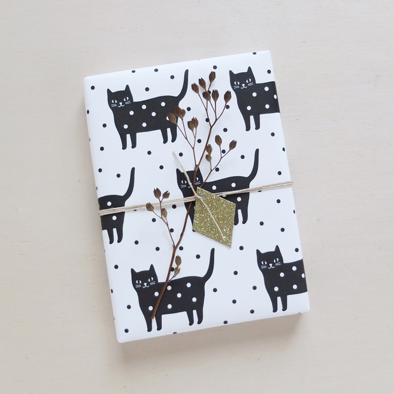 Audrey Jeanne | Cat wrapping paper