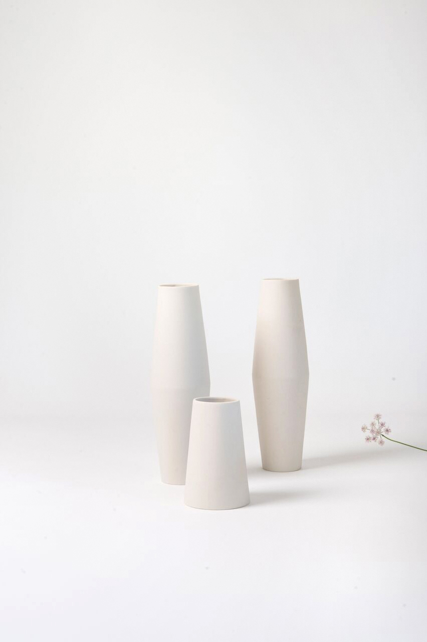 Ceramic vases handmade in Switzerland by Golden Biscotti