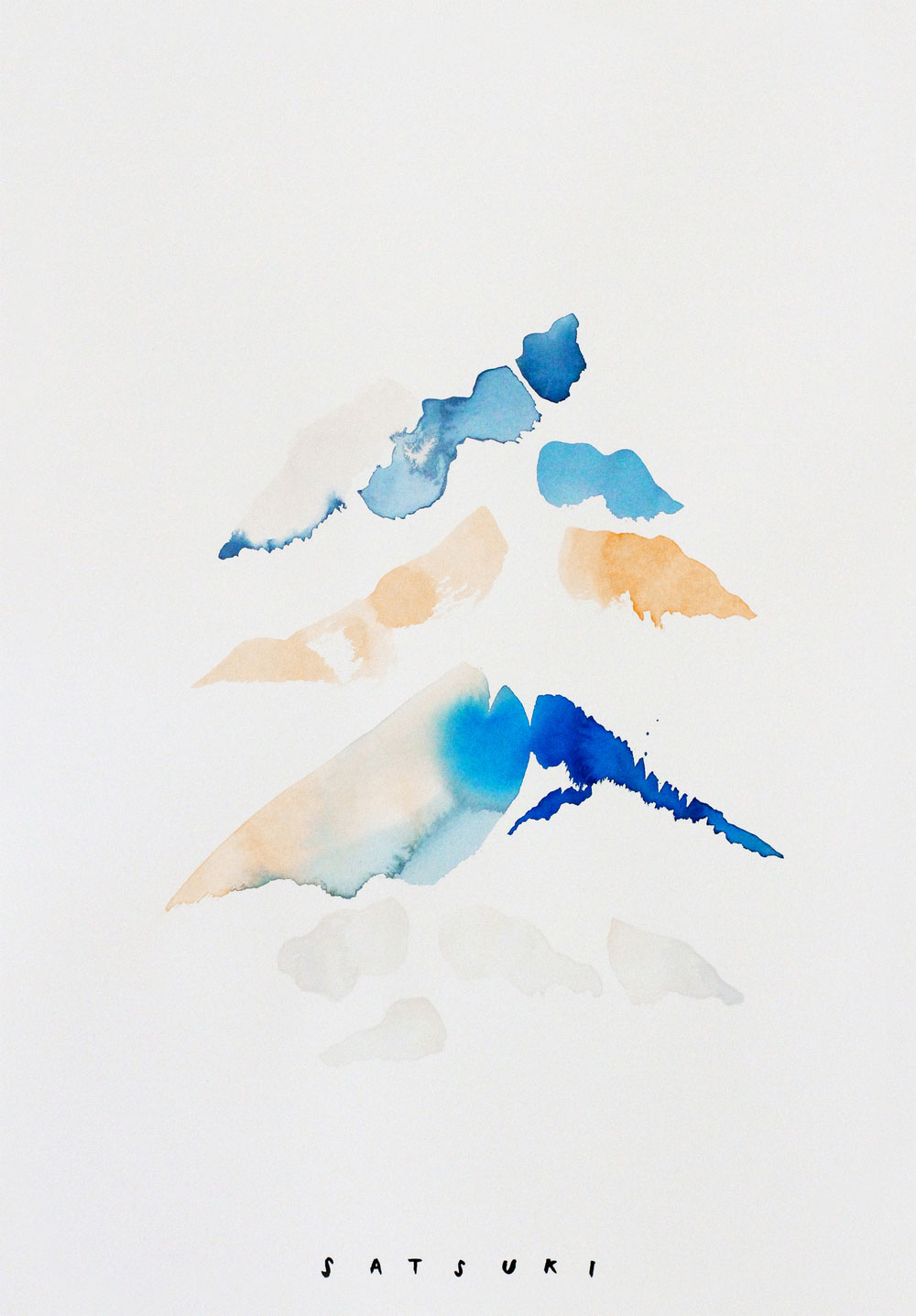 Satsuki Shibuya, artist & spiritual thinker | abstract watercolor painting