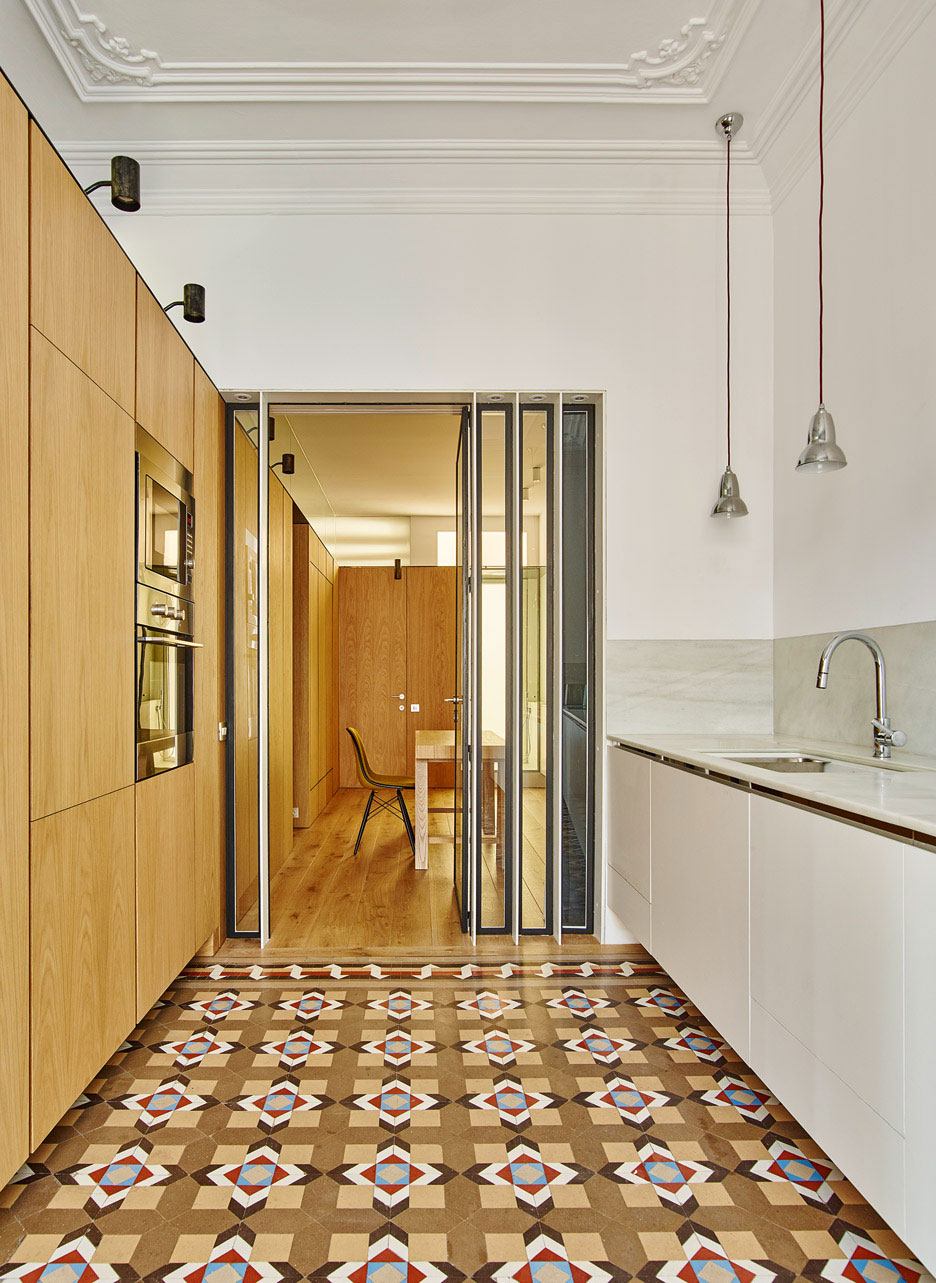 Beautiful traditional tiles in Barcelona located apartment