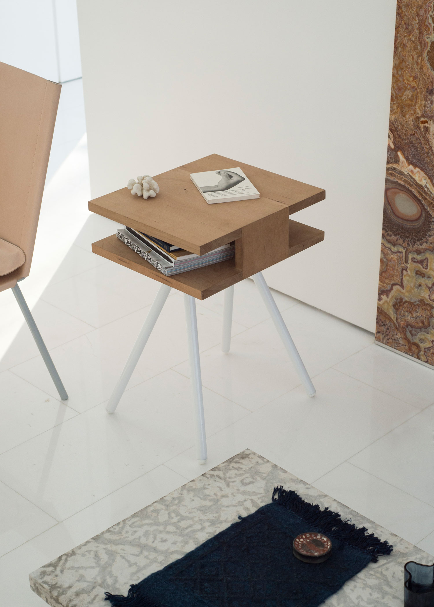 Thom Fougere | Steel Wood Sidetable