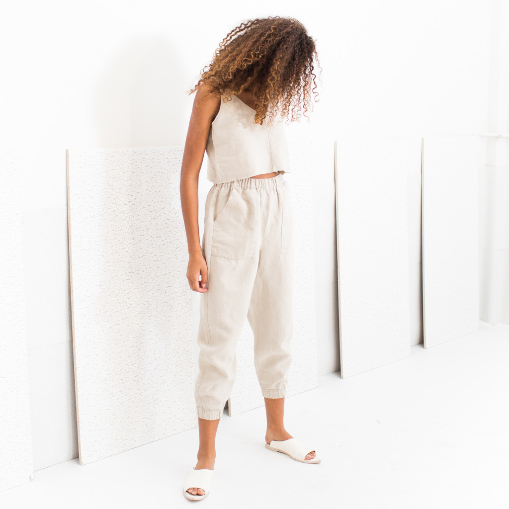Natural carter pants & crop top by HDH