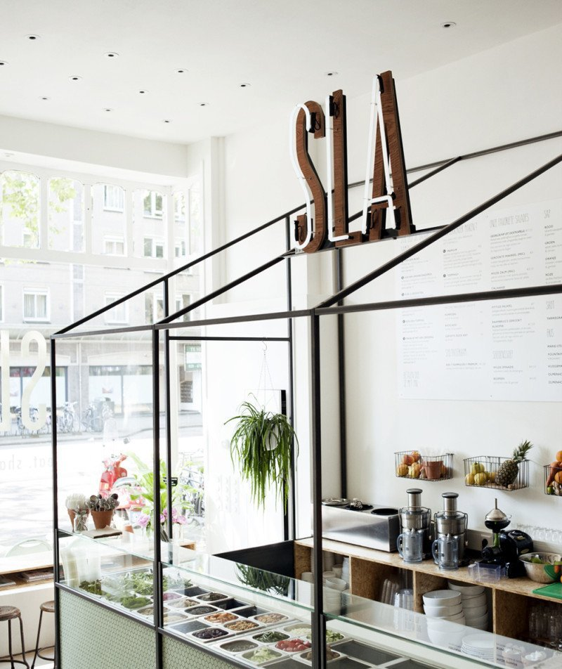 SLA Amsterdam Salad Bar Interior Design