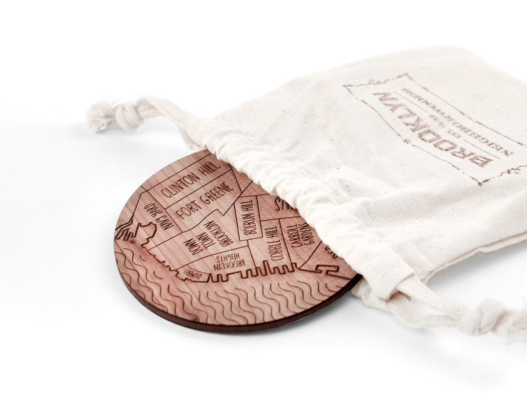 Neighborwoods | Engraved City Coasters made of Wood | Paris