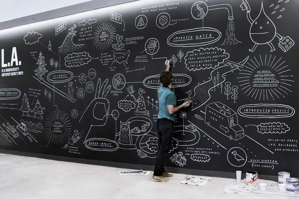 Brian Rea Illustration Mural