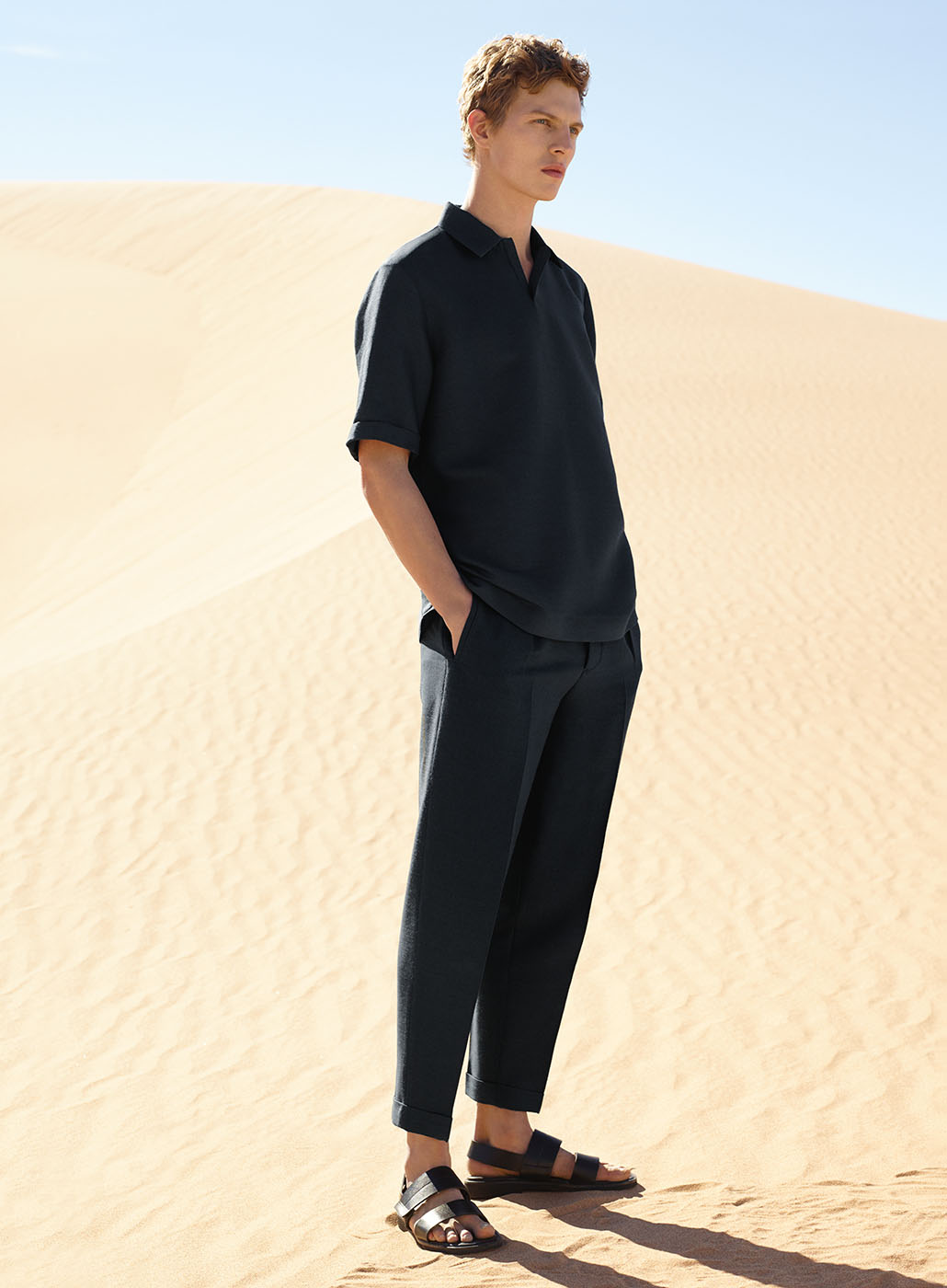 COS summer campaign for men | minimalistic fashion shooting in the desert