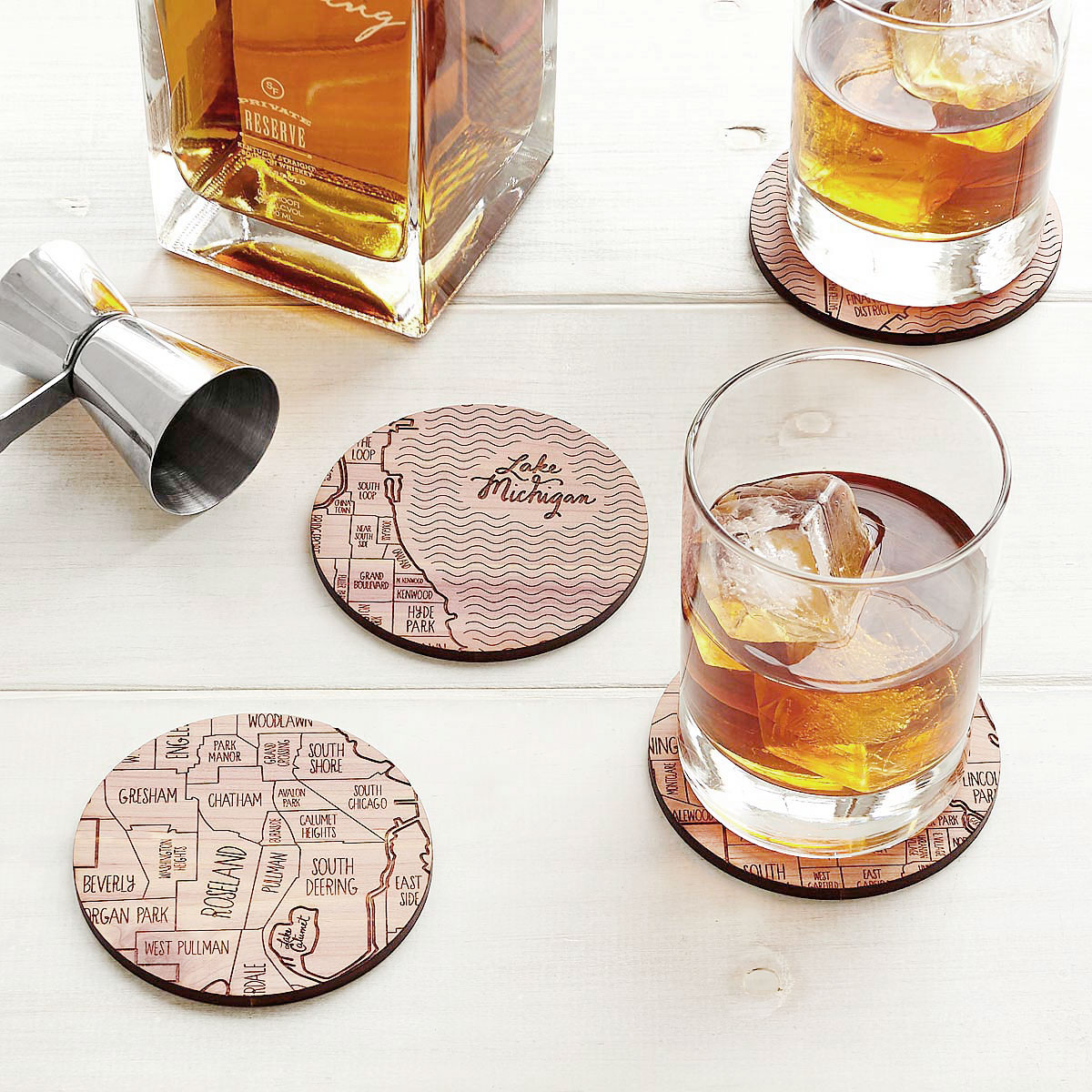 Neighborwoods | Engraved City Coasters made of Wood