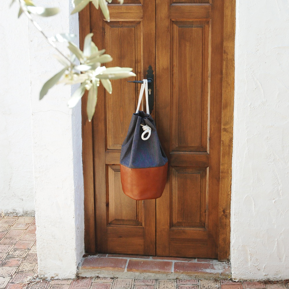 Handmade Sea Bags from Berlin – leather and organic cotton