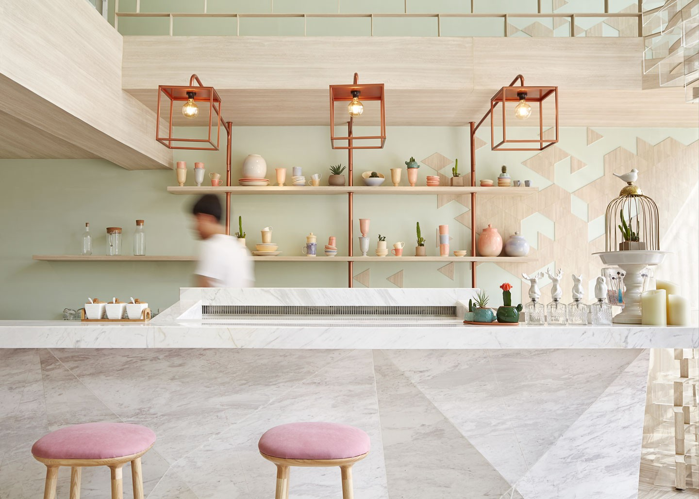 Shugaa dessert bar | interior design inspired by sugar crystals