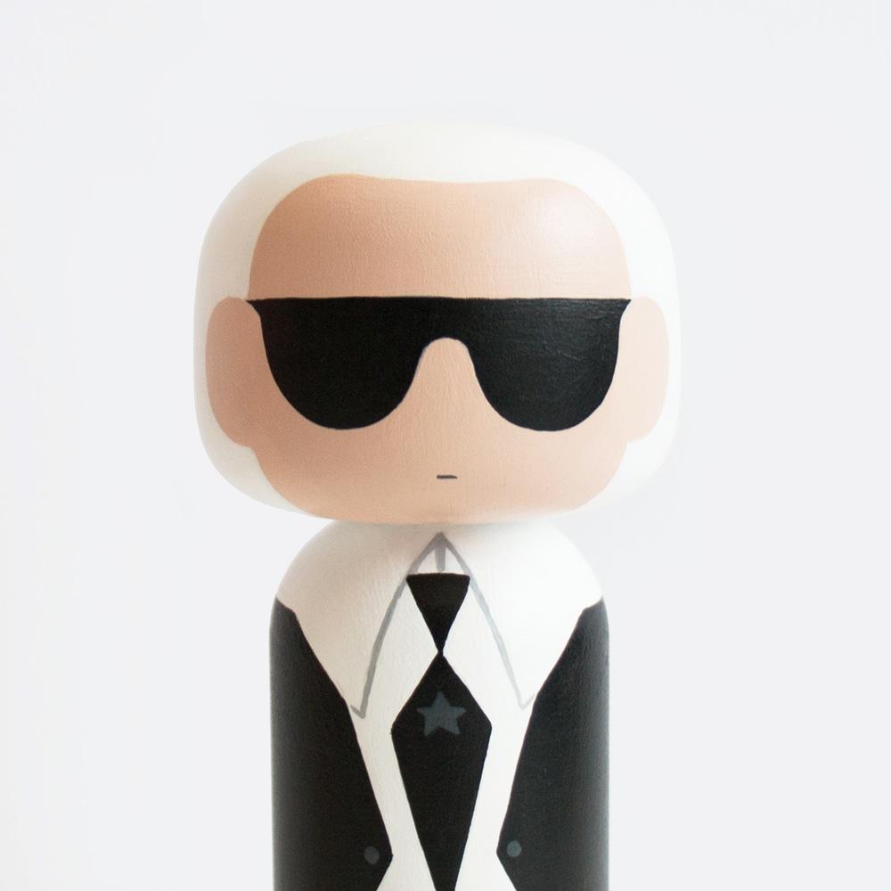 Karl Lagerfeld Kokeshi Doll by Becky Kemp