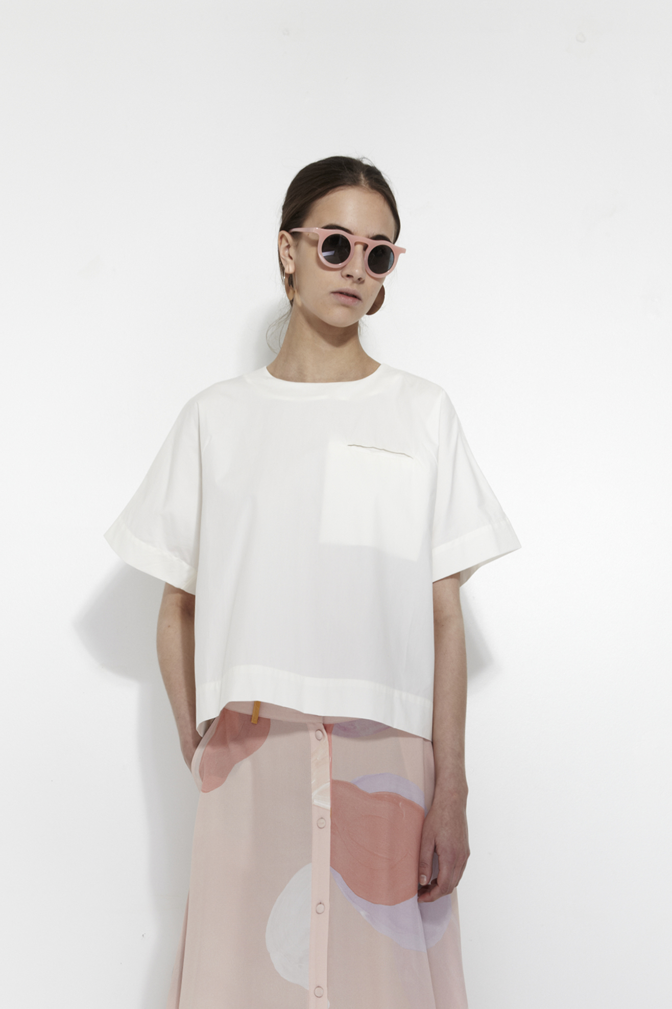 White blouse by Mr. Larkin | Copenhagen based clothing label