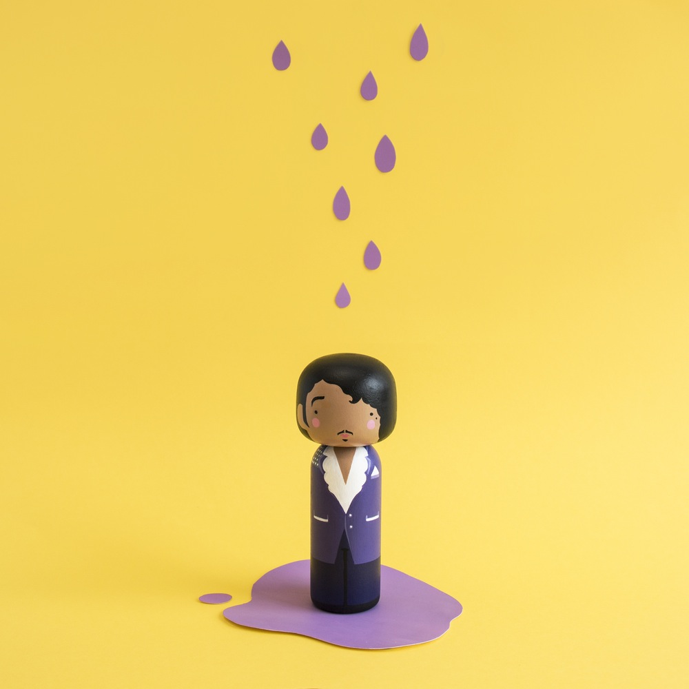 Prince Purple Rain Kokeshi Doll by Becky Kemp