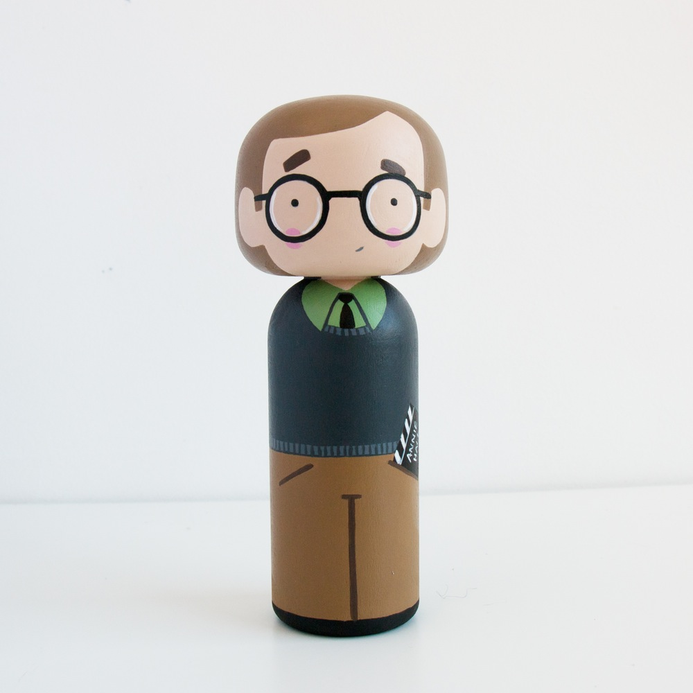 Woody Allen Kokeshi Doll by Becky Kemp