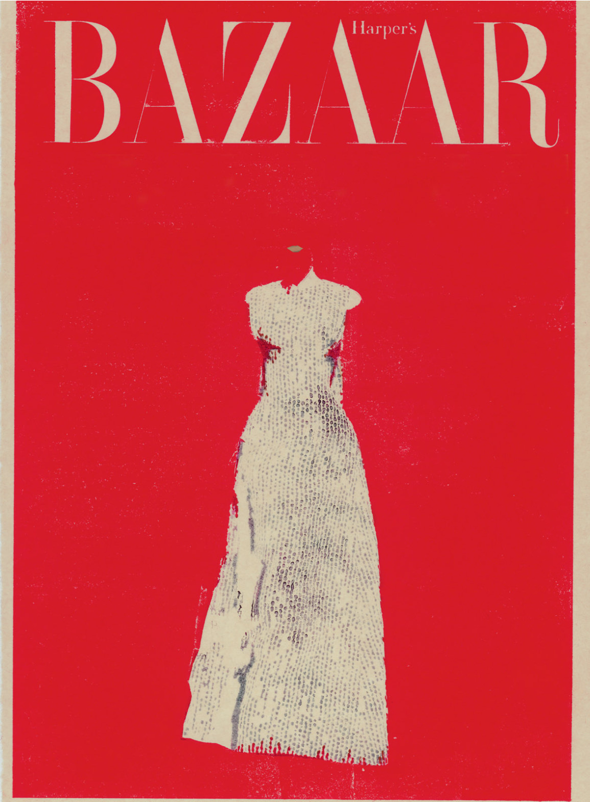 Experimental fashion illustration by Aurore de La Morinerie | Harper's Bazaar Vintage Cover