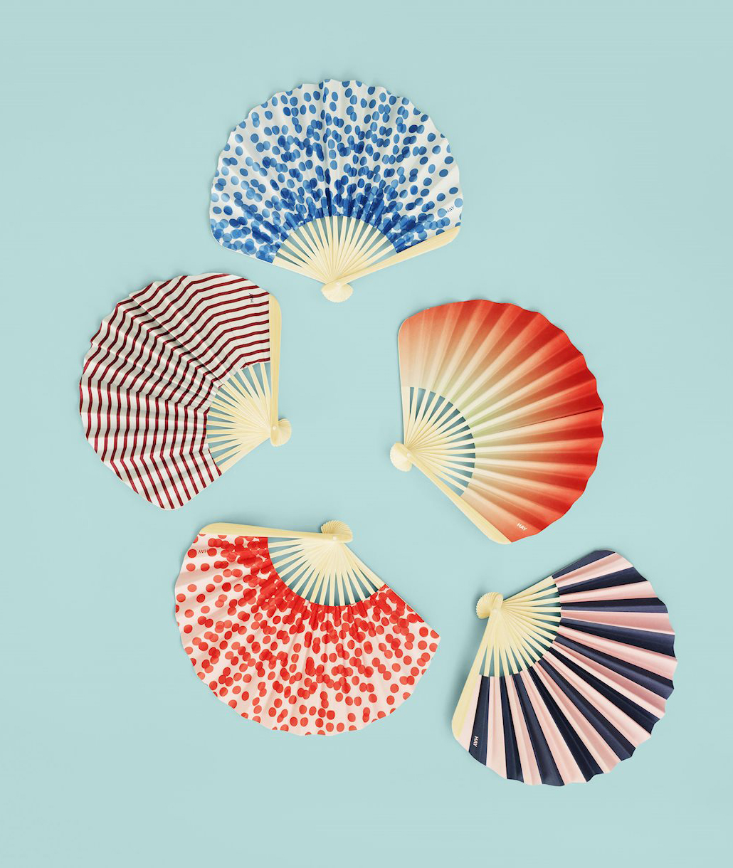 Colorful Paper Fans with Patterns by HAY