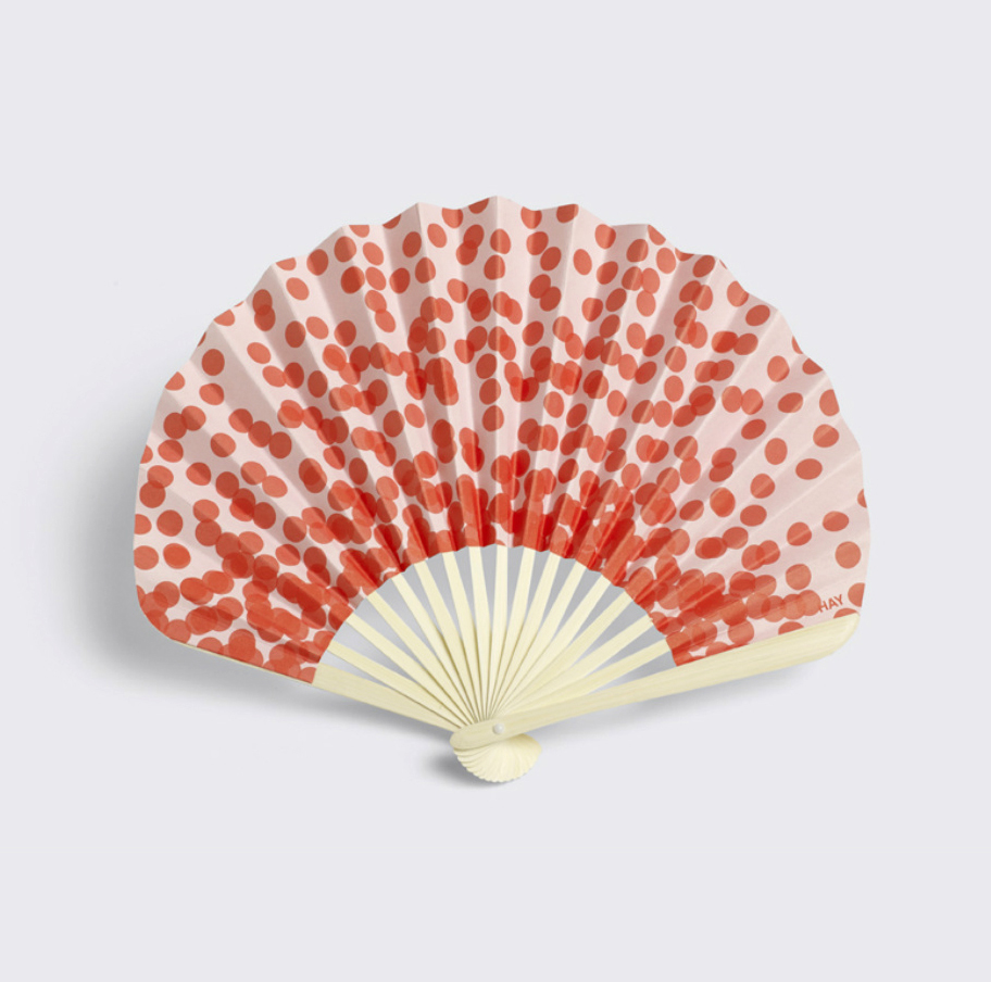 Colorful Paper Fan with Patterns by HAY