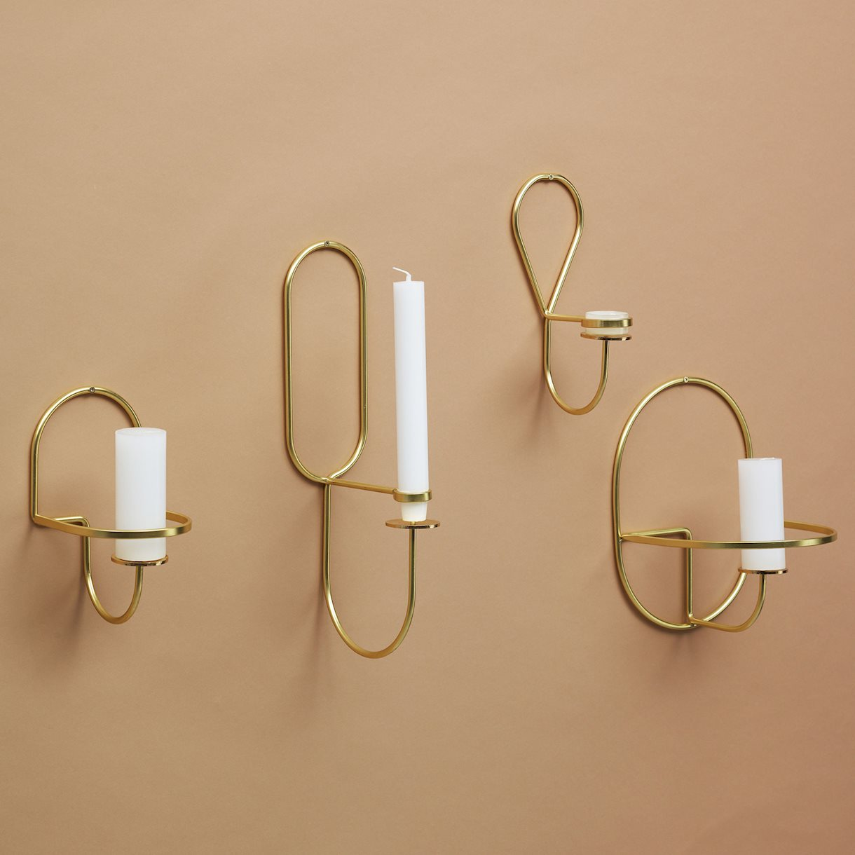 Lup – wall mounted brass candle holder by HAY – objects for the home