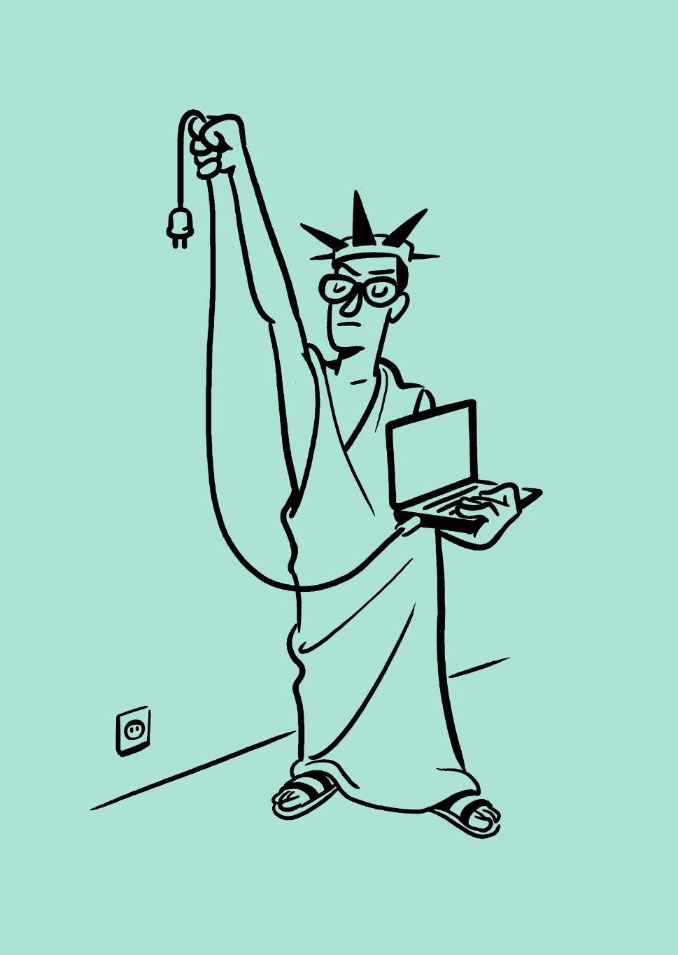 Christoph Niemann | Statue of liberty in modern times