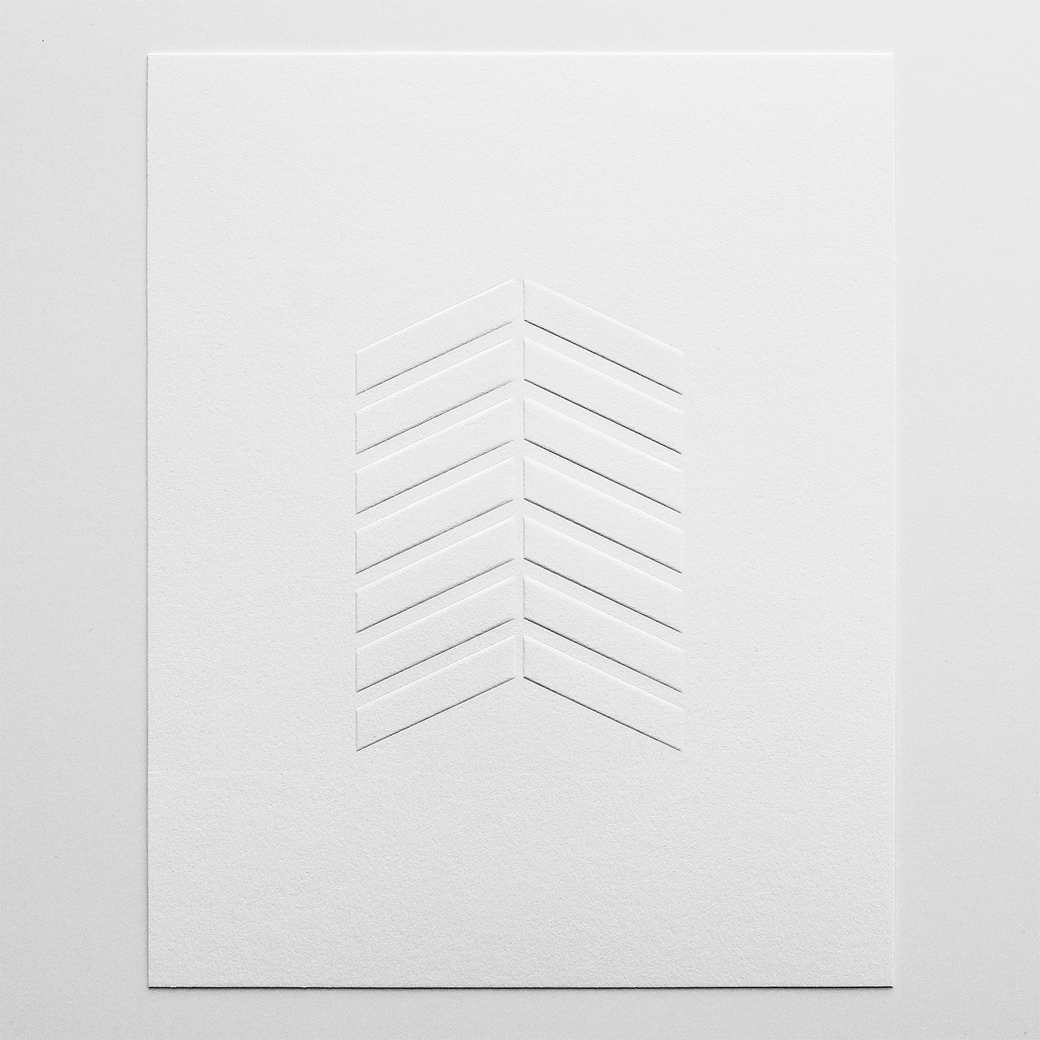 Barclay Haro Art Prints | Chevron Blind Emboss